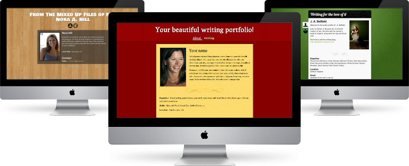 Create a beautiful writing homepage